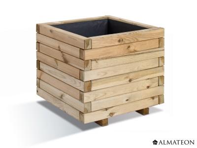 Jardinière carrée Stockholm en bois de 65 L