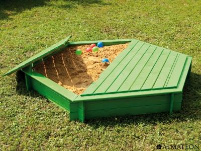 Bac à sable en pin Sandy avec couvercle, diamètre 180 cm