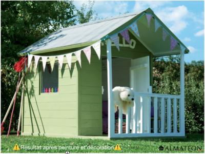 Maison pour enfants en bois Kangourou, L146 x P180 x H 158 cm