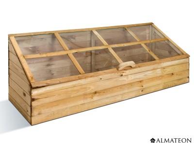 Serre potagère en bois XL, sans fond, 305 L