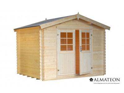 Abri en sapin 8.8 m² WW-57, 34 mm