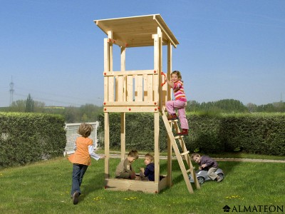 Tour de jeux à toit plat, pour enfants
