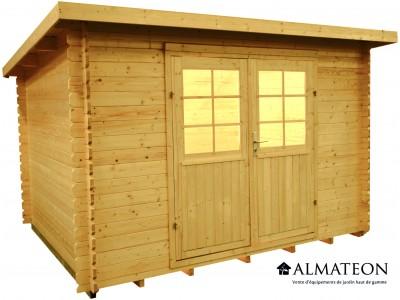 Abri en sapin 8.6 m² WW-23, 28 mm