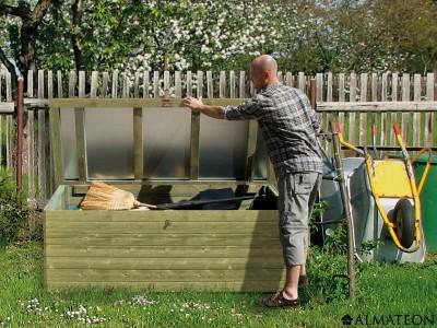 Offre spéciale votre coffre de jardin et terrasse, madriers 19mm