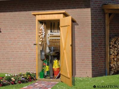 Armoire de jardin et terrasse de 7 m2, avec madriers 14 mm