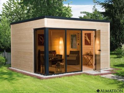 Vente flash printemps abri 11,4 m2 Design 412 Cubilis Premium 45 weka-Line T 1, brut