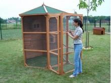 En avant première vente privée -260€ votre volière hexagonale 4,5M2 en bois pour oiseaux avec sas d'entrée 6 à 10 oiseaux