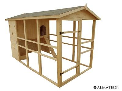 Poulailler XXL pour 8 à 12 poules 6,9m2 - avec toit bitumé