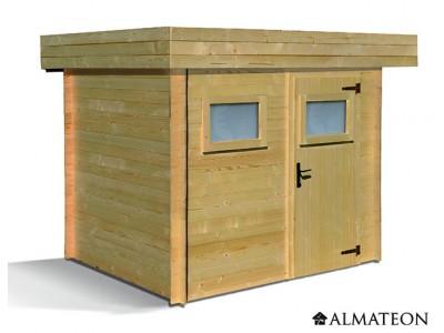 Abri en bois 4,84 m² Mikki, 19 mm
