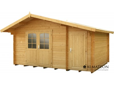 Abri en sapin 12.98 m² WW-37, 34 mm