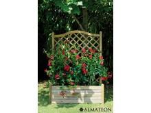 Bac à fleurs avec treillis Lierre Arc 80 en pin européen