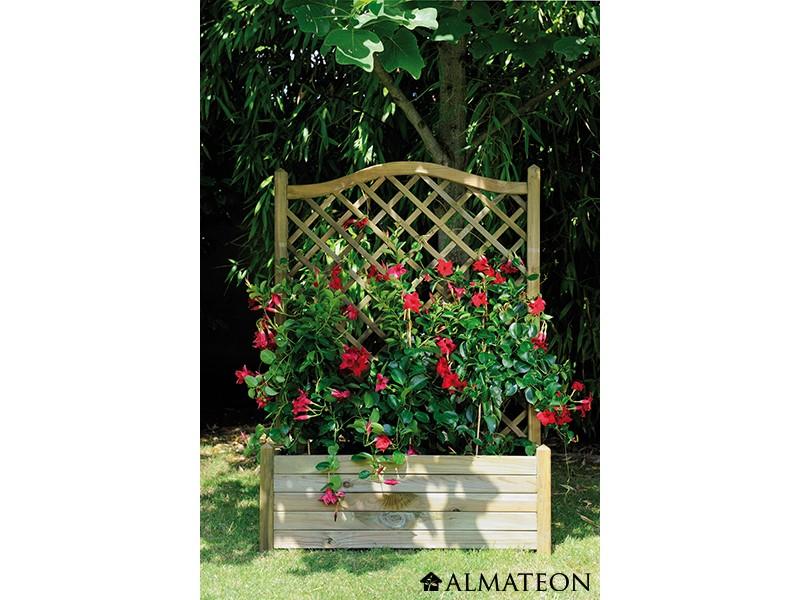 bac fleurs avec treillis lierre arc 80 en pin europ en. Black Bedroom Furniture Sets. Home Design Ideas
