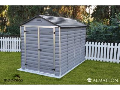 Abri de jardin ANDY en polycarbonate et aluminium