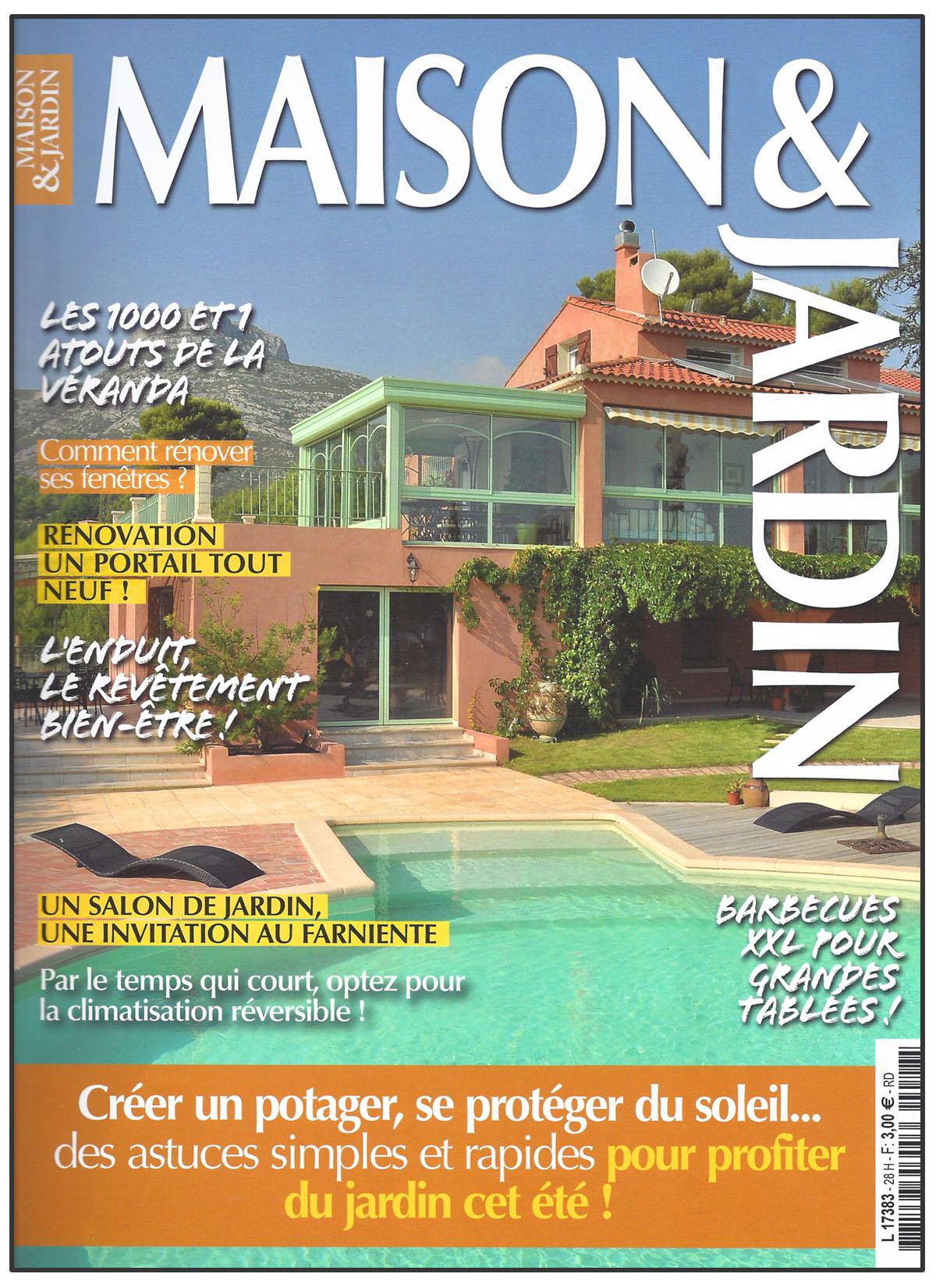 Couverture du magazine Maison&Jardin de mai/juin 2013
